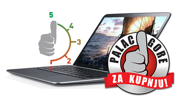 Dell XPS 13 s 5 i palcem gore