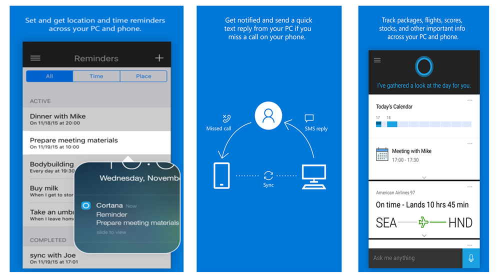 Cortana za ios i android