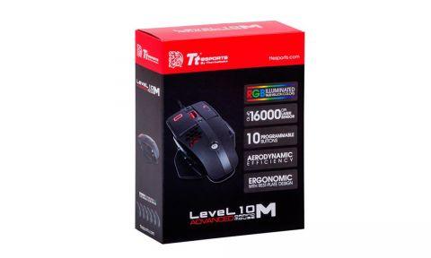 Thermaltakeov Level 10 M Advanced miš s ventilacijom postiže do 16000 DPI