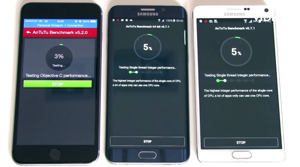 AnTuTu Benchmark: Apple iPhone 6 Plus, Samsung Galaxy S6 Edge+, Samsung Galaxy Note 4