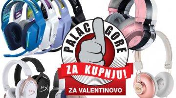 Palac gore za kupnju: Gaming i Audio slušalice za Valentinovo